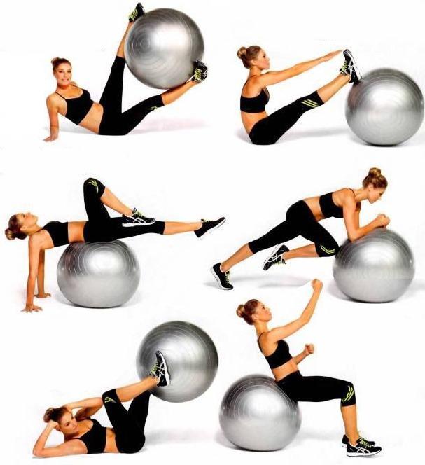 Упражнения с мячом для фитнеса и похудения