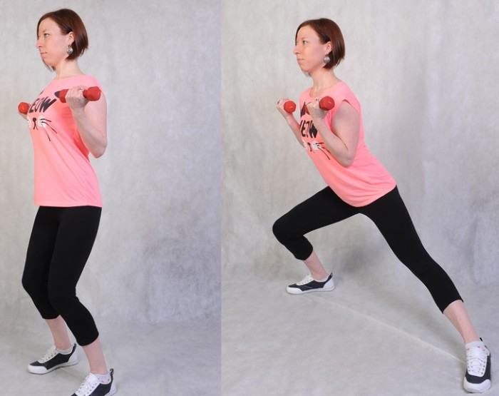 Упражнения для ягодиц с гантелями для девушек видео