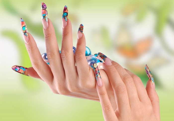 Наращивание ногтей гель лаком, гелем пошагово дома: форма, типсы. Видео уроки для начинающих, фото
