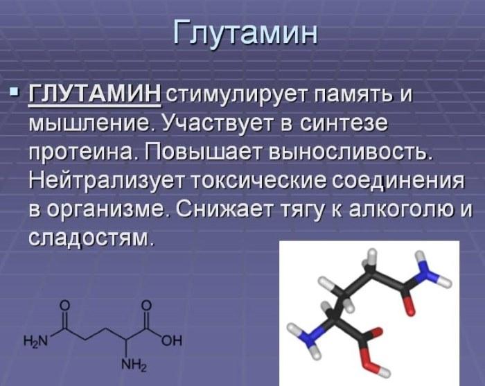 глутаминовая кислота зачем нужна
