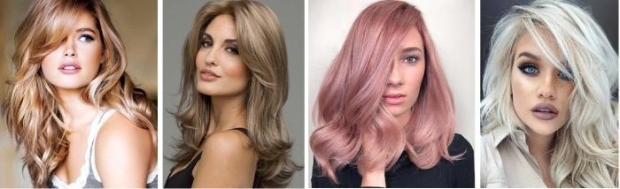 Цвета волос. Фото и названия цветов, оттенков, модные тенденции окрашивания для женщин, мелирование