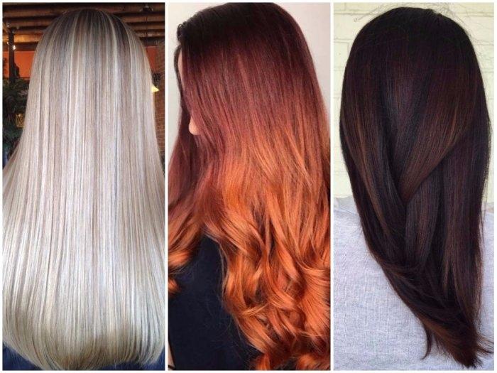 Палитра цветов для покраски волос