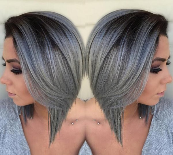 Омбре на короткие волосы. Фото окрашивания на светлые, темные, русые, рыжие, пепельное, серое омбре