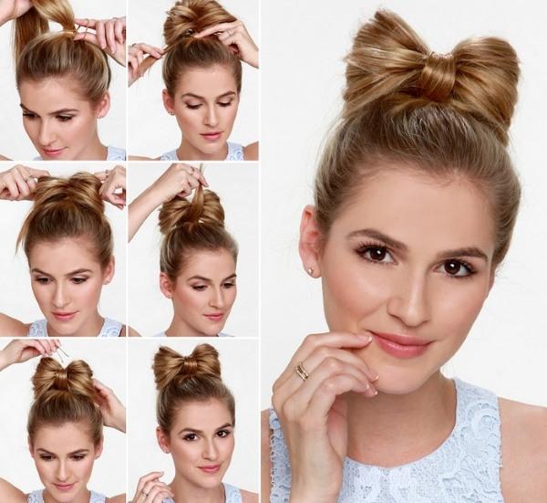 Как сделать себе прическу самой на средние волосы быстро и красиво