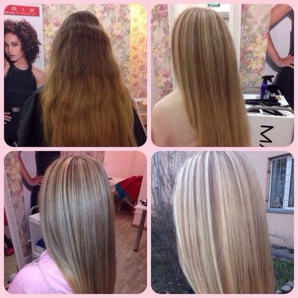 Мелирование на темные волосы средней длины, короткие волосы. Фото