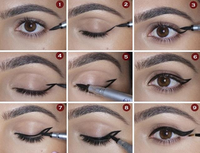Стрелки на глазах для начинающих. Пошаговая инструкция с фото, советы профессионалов, видео-уроки