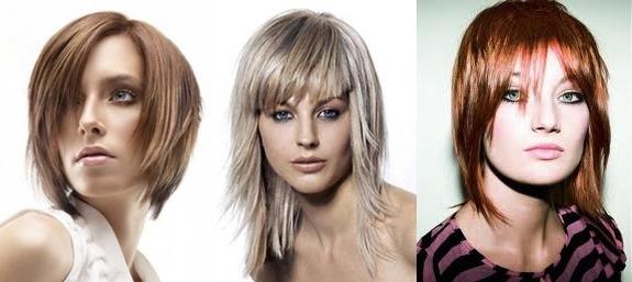 Стрижки с челкой на средние волосы 2020. Фото модных стрижек для круглого, овального, квадратного лица