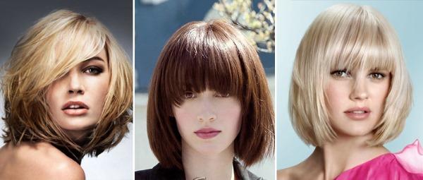 Стрижки с челкой на средние волосы 2021. Фото модных стрижек для круглого, овального, квадратного лица