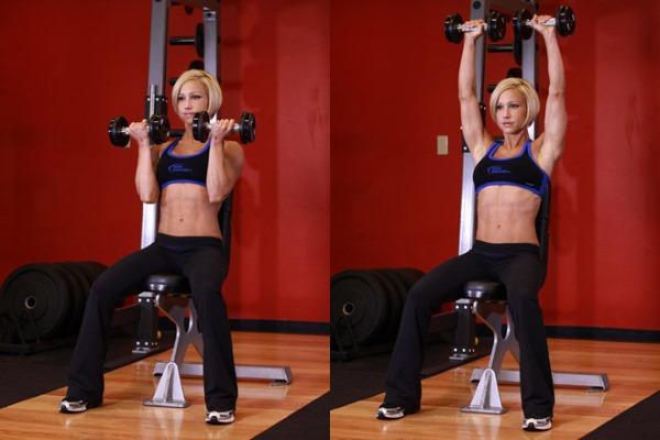 Упражнения на плечи в тренажерном зале для девушек. Правила выполнения тренировки