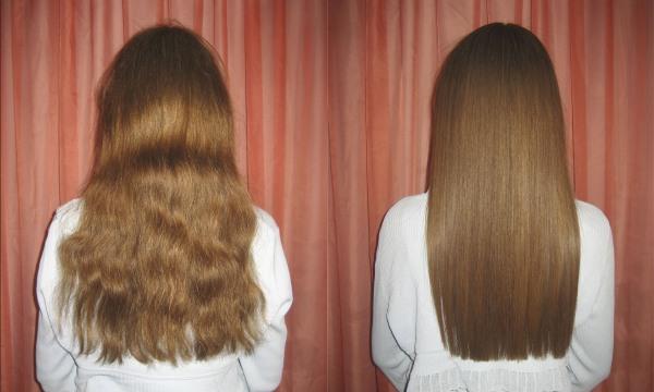 Выпрямление волос народными и профессиональными средствами без утюжка и фена, кератиновое выпрямление