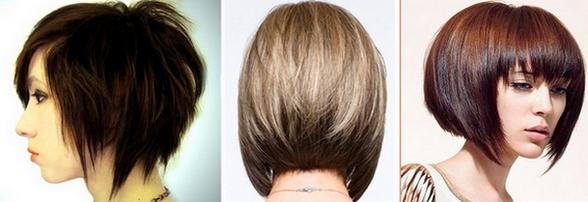 Градуированное каре на средние волосы. Фото каре с челкой, удлиненного каре, каре-боб, с объемом на макушке