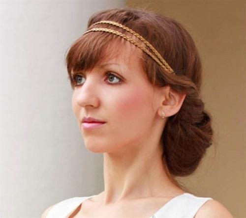 Греческая прическа на длинные волосы с повязкой. Пошаговая инструкция с фото