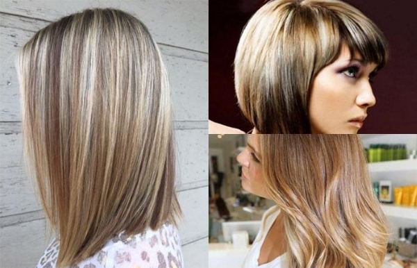 Мелирование на светло-русые волосы средние, короткие и длинные. Техника окрашивания пепельный блонд, обратное, калифорнийское, темное. Фото