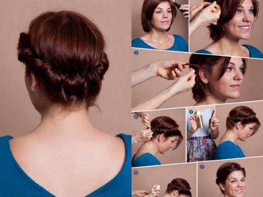 Укладка волос на короткие локоны с феном и без в домашних условиях. Пошаговая инструкция с фото, рекомендации стилистов