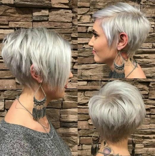 Асимметричная стрижка на длинные волосы без челки