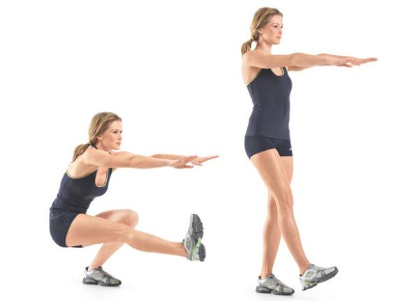 Базовые упражнения на ягодицы и ноги для девушек: с гантелями, резинкой, штангой, утяжелителями, эспандером, фитболом, эластичной лентой