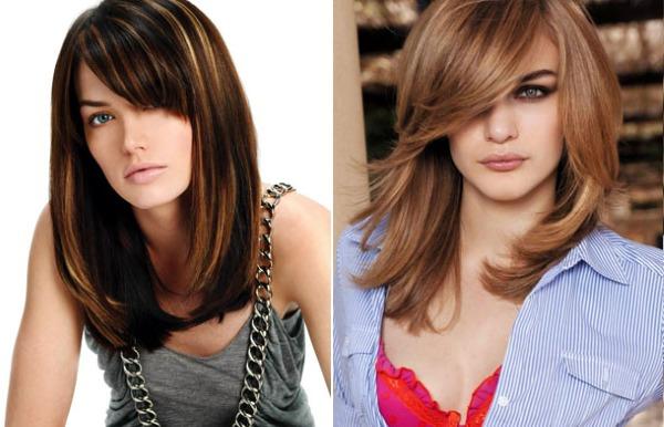 Челки 2019 на средние волосы: косая, рваная, красивая, короткая, каскад, асимметрия. Модные тенденции с фото