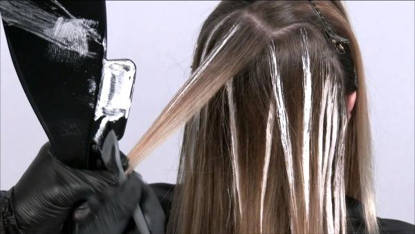 Балаяж на светлые волосы средней длины, короткие, длинные, техника окрашивания с затемнением, фото