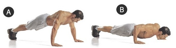 Отжимание от пола. Программа тренировок для начинающих, польза, техника выполнения на массу, пресс, для грудных мышц