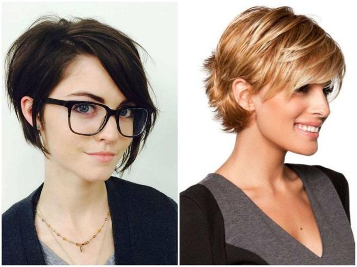 Модные женские стрижки 2019 года на короткие волосы. Фото, вид спереди и сзади