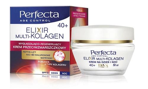 Крем-лифтинг после 40, 50, 55 лет для лица, век, глаз, шеи, подбородка, коррекции морщин: Эвелин, Кора, Natura Siberica, Perfecta Elixir Multi-Collagen, Носивит