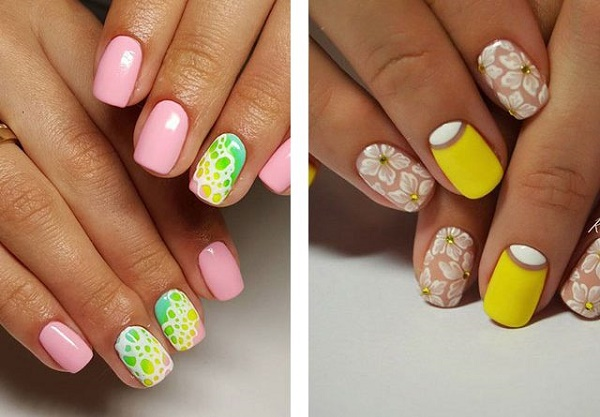 Ногти гель-лаком: дизайн, фото 2018, новинки маникюра весна, лето, осень, зима