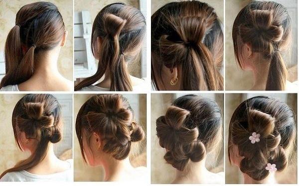 Прически с челкой на средние волосы: свадебные, торжественные, вечерние, красивые, на каждый день. Фото