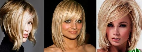 Удлиненный боб с челкой на тонких волосах. Фото, как выглядит для круглого, вытянутого, квадратного, прямоугольного, овального лица