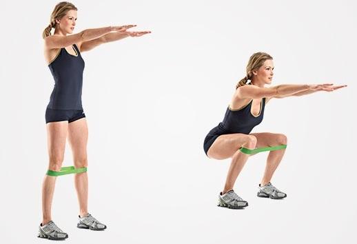 Упражнения с эластичной лентой для женщин для мышц живота, пресса, спины. Пошаговые уроки с фото