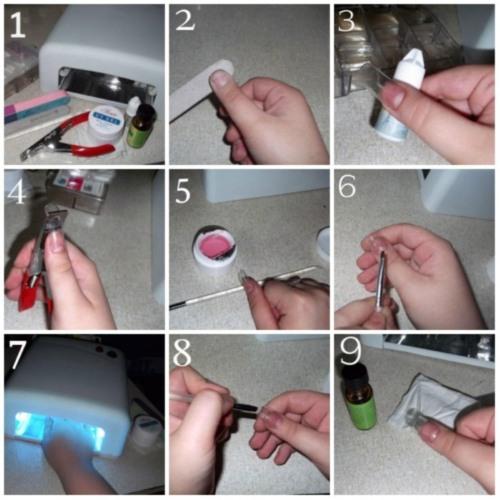 Как нарастить ногти гель лаком поэтапно для начинающих в домашних условиях