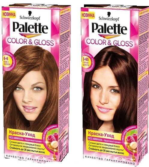 Краска для волос Палет (Palette). Палитра цветов, фото на волосах, отзывы, цена