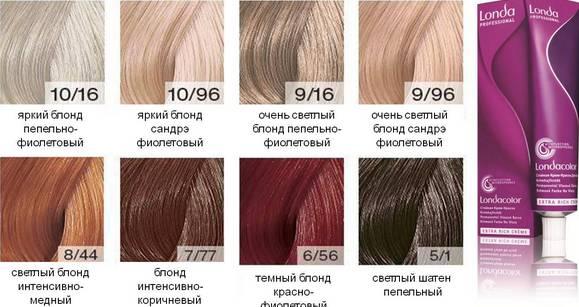 Londa (Лонда) краска для волос - профессионал палитра цветов, фото, отзывы