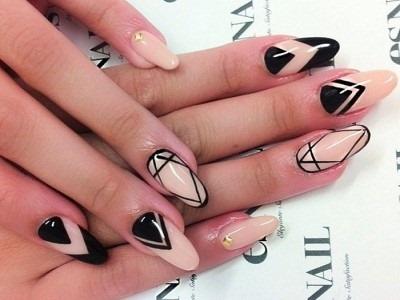 Миндалевидные ногти. Модные тенденции в дизайне 2020, фото: бледный, френч, нюд, омбре, с блестками, стразами, втиркой
