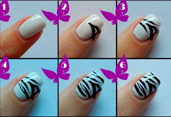 Черно-белые ногти - дизайн френч, омбре, градиент, со стразами, бульонками, серебром, золотом. Новинки маникюра. Фото