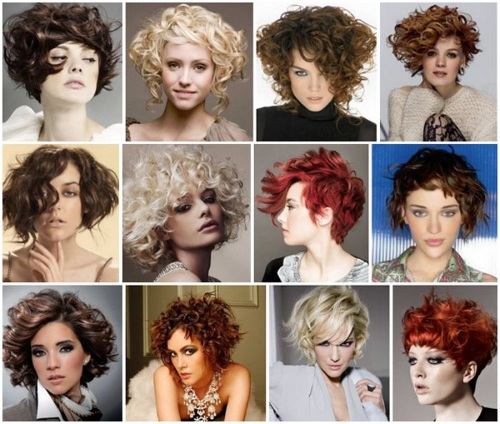 Стрижки на средние вьющиеся волосы: тонкие, густые, пышные. Модные прически с челкой и без. Фото
