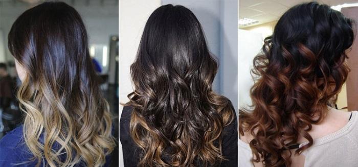 Окрашивание волос омбре (ombre). 100 фото!