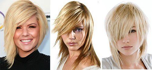 Каскад на волосы средней длины, тонкие, вьющиеся, кудрявые. Стрижка с короткой, косой, прямой челкой. Кому подходит, как выглядит, фото