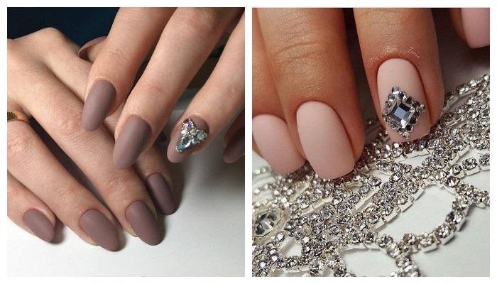 Красивые ногти гель лаком с рисунком, стразами, блестками, кошачий глаз, френч, омбре. Новинки 2019, фото