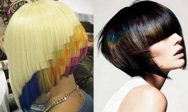 Цвет волос на среднюю длину волос