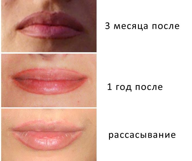 Макияж губ перманентный: с растушевкой, эффектом увеличения, 3d, омбре, в акварельной технике, бархатные губы. Фото до и после