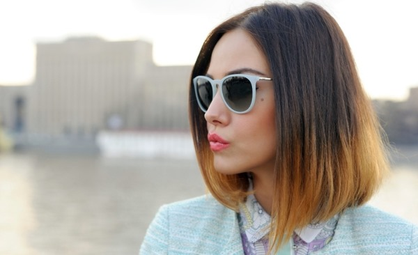 Омбре на русые волосы наносится с учетом цвета глаз, длинны волос