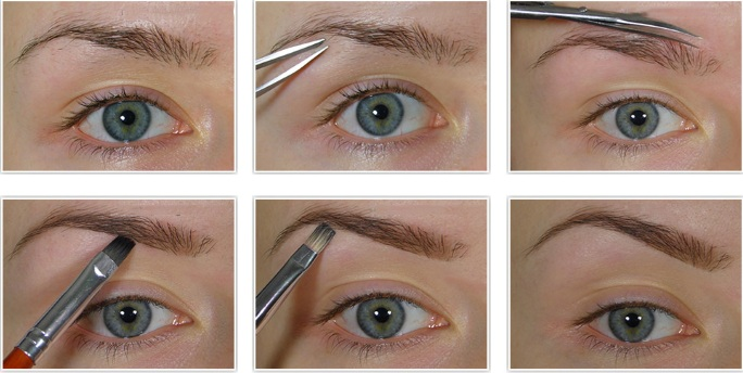 Форма бровей по типу лица. Фото прямые, округлые, восходящие, нисходящие, тонкие, домиком. Советы мастеров и уроки макияжа