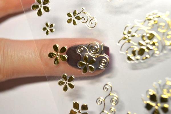 Слайдеры для ногтей. Дизайн, как пользоваться, клеить, использовать с гель лаком, 3д, геометрические. Схемы, трафареты для маникюра, фото