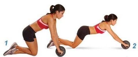 Комплекс упражнений на пресс для девушек. Эффективные тренировки с роликом, колесом, на турнике, скамье, стуле