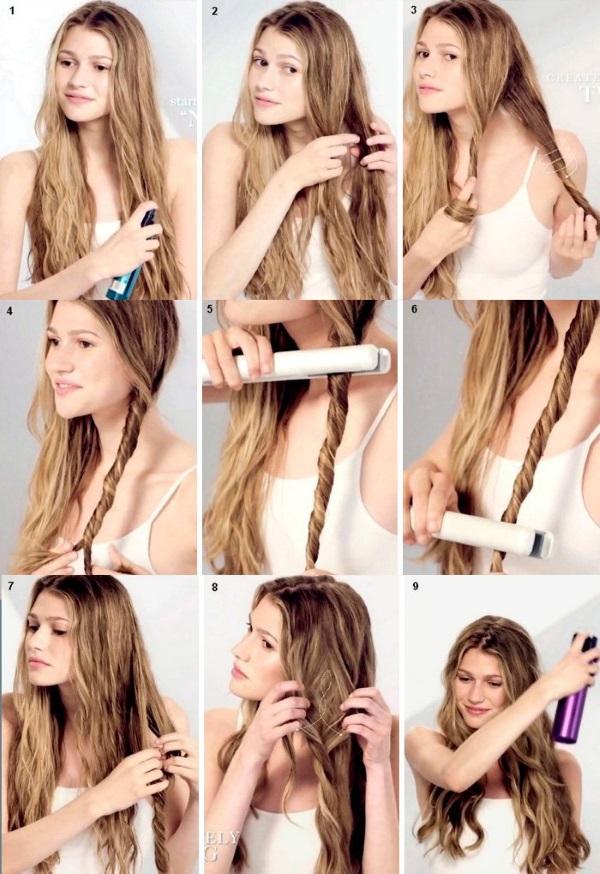 Как сделать локоны выпрямителем для волос. Пошаговая инструкция