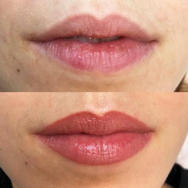 Перманентный макияж губ с растушевкой. Фото до и после процедуры, цена