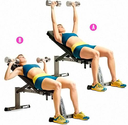 Упражнения на грудь для девушек. Программа тренировок на неделю в домашних условиях