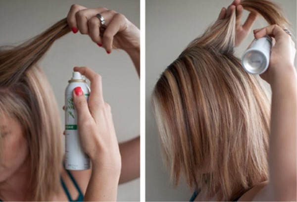 Как правильно наносить сухой шампунь