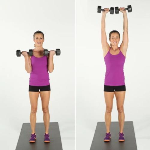 Базовые упражнения с гантелями для женщин на плечи, спину, ноги, все группы мышц