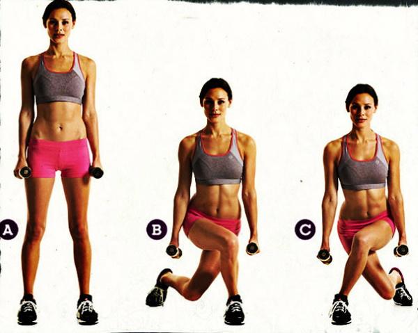 Упражнения для стройных ног, красивых бедер, упругих ягодиц с гантелями за неделю